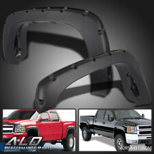 Pocket Style Bolt On Rivet Fender Flares Textured For 99-06 Chevy Silverado GMC