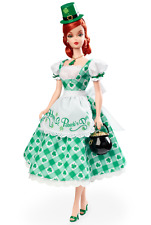 SHAMROCK CELEBRATION BARBIE -NRFB  -GOLD LABEL, HOLIDAY HOSTESS COLLECTION