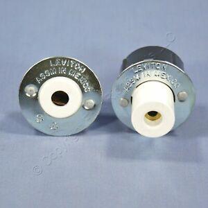 Leviton Fluorescent Lamp Holder Plunger Fixed Light Socket Slimline Fa8 516 517