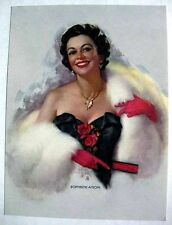 1940s Pin Up Girl Picture by Zoe Mozert Sophistication Sexy Brunette in Fur