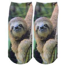 Relaxed Sloth socks - Lazy bone slow coach sleepy laggard footware novelty sock