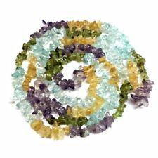 COLLAR de Piedras Semipreciosas Multicolor 85-90 cm Elegante. Nuevo