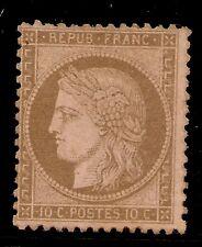 FRANCIA Yvert 58* 10 Céntimos Brun Tipo Ceres III Republica  1872   NL1118