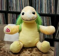 "Build-A-Bear Yellow Sea Marine Turtle 17"" Plush Textures  Green  Removable Shell"