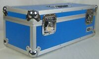 "NEO Aluminum Blue Storage for 300 Vinyl Singles 45's Records 7"" DJ Carry Case"
