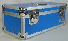 "NEO Aluminum Blue Storage for 300 Vinyl Singles 45's Records 7"" DJ Carry Case"
