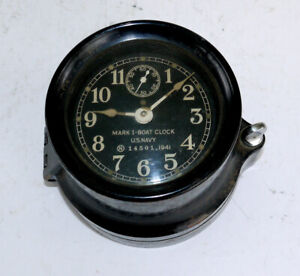 US Navy Boat Clock MARK I Seth Thomas Dated 1941 Phenolic Case