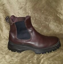 Men's Brown Prada Chelsea Boots $850 Retail Size 12 US 46 EU