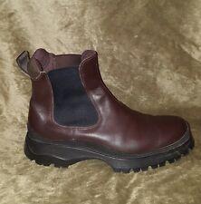 Men's Brown Prada Chelsea Boots $850 Retail Size 12 US 46 EU