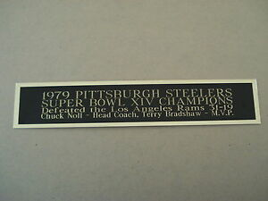 Pittsburgh Steelers Super Bowl 14 Nameplate For A Football Helmet Case 1.25 X 6