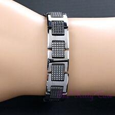 Bio Magnetic Tungsten Arthritis CTS RSI Relief Unisex Silver Rhodium PL Bracelet
