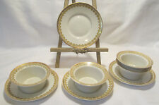 HC France Old Abbey Limoges 4 Ramekins with Saucers VGC REDUCED!