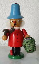 Old Smoking Man Smoking Man Rauchermann Erzgebirge Mushroom Pickers 13,0 CM