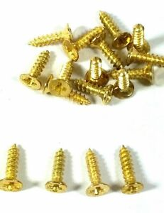 2mm x 6mm Small Screws Brassed Countersunk Jewellery Box Hinge Miniature Dolls