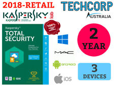 New Kaspersky Total Security 2018 Antivirus 3 User Android Windows Mac iOS 2 Yr