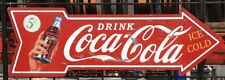 COKE BOTTLE ARROW  SIGN