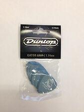 PACK x 12 DUNLOP GATOR GRIP 1.14mm PLECTRUMS / PICKS 417P1.14  Free Shipping UK