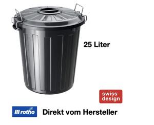 Rotho Allzweck Tonne Mülleimer Aufbewahrungs Box Kiste mit Deckel Kunststoff