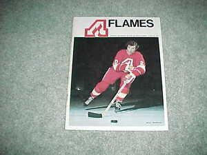 1973 Detroit Red Wings v Atlanta Flames Hockey Program Billy McMillan Cover