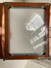 """Verre dépoli 8x10"""" (20,3x25,4cm) FAIT MAIN (épaisseurs et dimensions sur mesure)"""