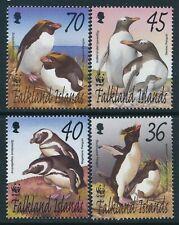 2002 FALKLAND ISLANDS WWF PENGUINS SET OF 4 FINE MINT MNH