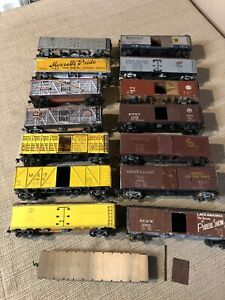 Lot of 15 Vintage Ho Scale Trains Mixed Rolling Stock Old Kit Built Brass Wood