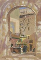 Gaynor Elizabeth Bury (1889-1975) - 1928 Gouache, Urban Street Scene