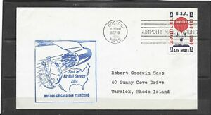 1959 AM4 First Jet Air Mail Service Cover, Boston - Chicago - San Francisco
