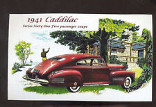 1941 CADILLAC SERIES 61 CAR DEALER ADVERTISING POSTCARD COPY