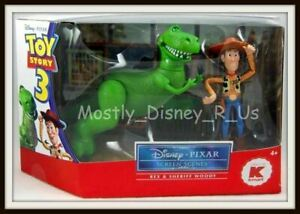 New Disney Toy Story Screen Scene Rex Sheriff Woody Figure Set Figurine