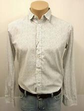 MARTIN MARGIELA Designer Hemd Gr.50 Kentkragen 100% Baumwolle Weiß Schwarz