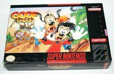 Disney's Goof Troop (Super Nintendo, 1993) *Rare Color Manual* Complete