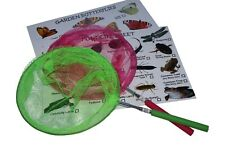CHILD'S POND DIPPING NET / BUTTERFLY NET WITH FREE SPOTTER CARDS