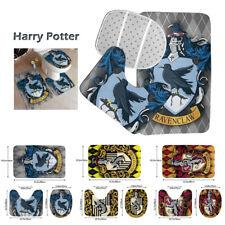 S/3 Harry Potter Bath Mat Set Anti-Slip Pedestal Rug Toilet Lid Cover Bath Decor