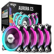 Aigo 12cm Aurora RGB Fans 5 PCS set with controller C5