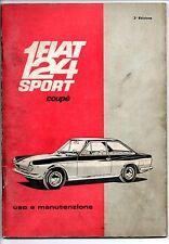 Libretto uso manutenzione Fiat 124 sport coupè 2/a edizione