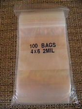 PLASTIC BAG 4x6 zip lock white block small poly 100