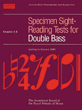 USED (GD) Specimen Sight-Reading Tests for Double Bass: Grades 1-5