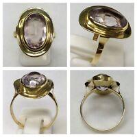 Goldring 333er Gold Ring mit Amethyst Goldschmuck