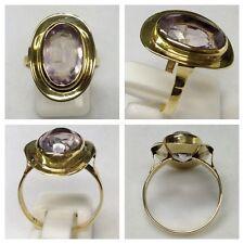 ANELLO ORO 333 Anello in oro con ametista gioielli oro
