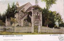 Postcard St Andrews New Brunswick St Johns Chapel Chamcook ca1907-19