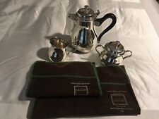 """CHRISTOFLE """"ALBI"""" SILVER PLATED COFFEE SET 3 PIECES [NEW & UNIQUE]"""