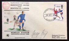George Best Signed 1968 European Cup Final Postal Cover Man Utd v Benfica