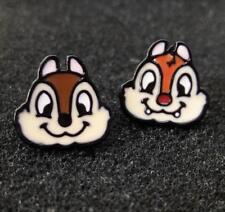 2pcs Disney squirrel superciliou metal earring ear stud earrings studs manga