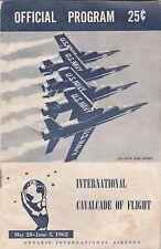 INTERNATIONAL CAVALCADE OF FLIGHT 1962 PROGRAM ONTARIO  AIRPORT