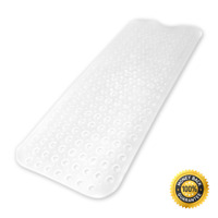 Extra Long Non-Slip Bath Mat Bathtub - Machine Washable Shower Mat With Suction