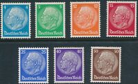 Stamp Germany Reich Mi 467-73 Sc 391-7 1932 War Hindenburg Medallion Empire MNH