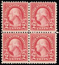579, Mint 2¢ F/Vf Nh Rare Block of Four Stamps Cat $560.00 - Stuart Katz