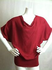 MICHAEL Michael Kors Red Glitter Shimmer Blouse Top Size Medium