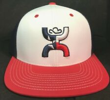 d7461f80da0 Hooey Hat Texican Red White   Blue Snapback Ball Cap 1909T-WHBL